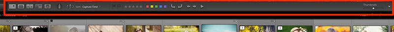 lightroom toolbar