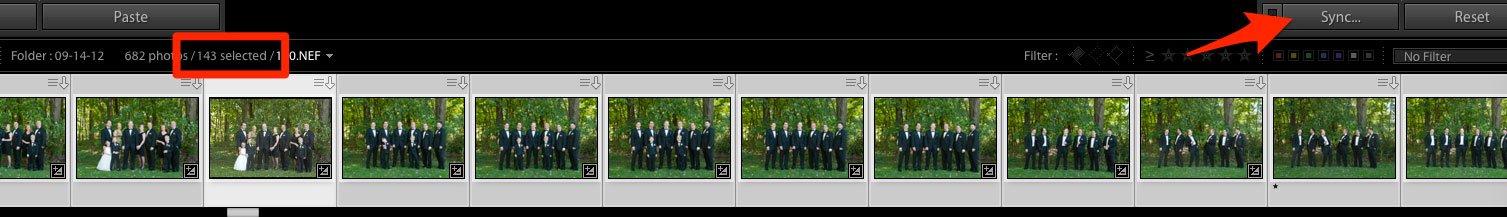 sync in lightroom