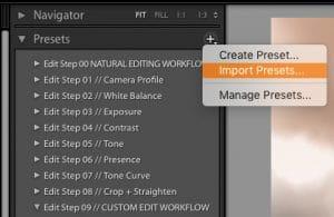 install presets