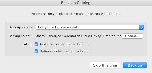 backup catalog
