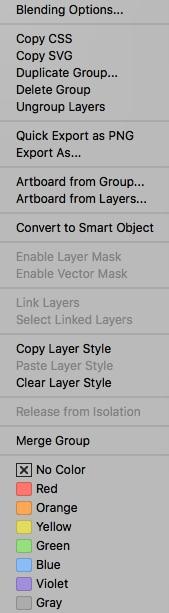 1 of 3 layer menus