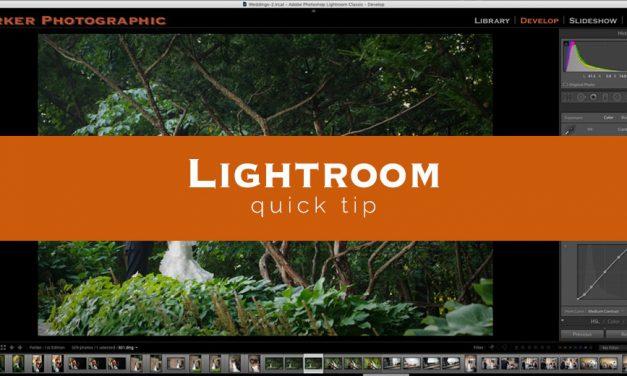Lightroom Quick Tip #7