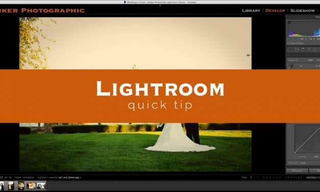 Lightroom Quick Tip #8