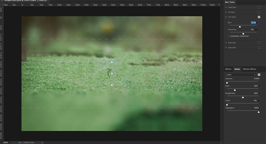 try the blur tool to make less sharp
