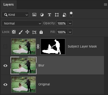 Top layer is turned off + filter effect