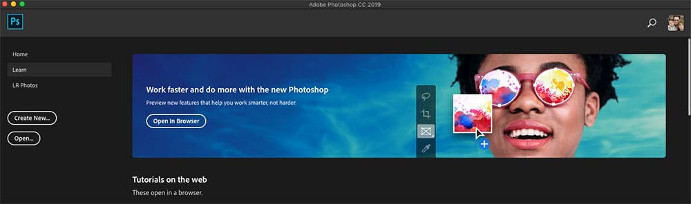How to use the Photoshop Home Screen | the Complete Guide (2020) 7