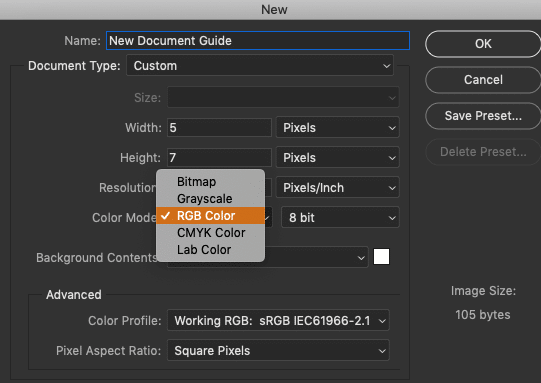 How to Create New Documents in Photoshop CC 28