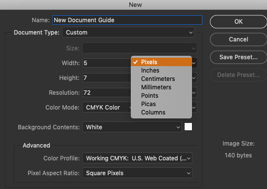 How to Create New Documents in Photoshop CC 27