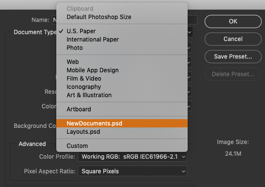How to Create New Documents in Photoshop CC 25