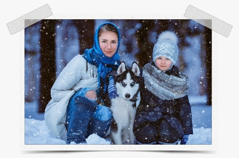 Photoshop Snow Action