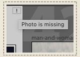 missing photo
