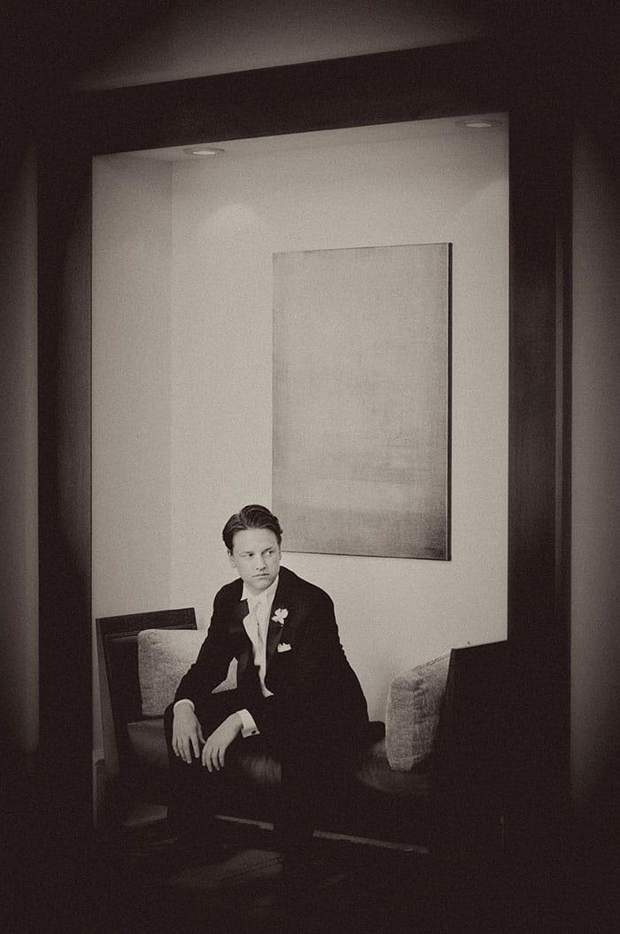 groom framed image