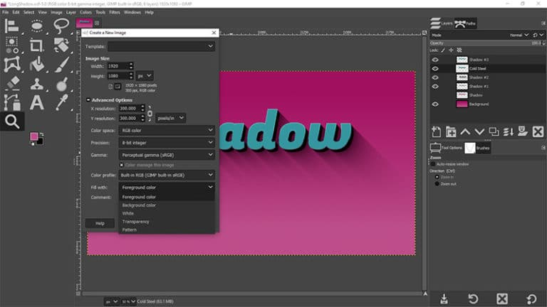 GIMP Tutorial {How To Create a Long Shadow}