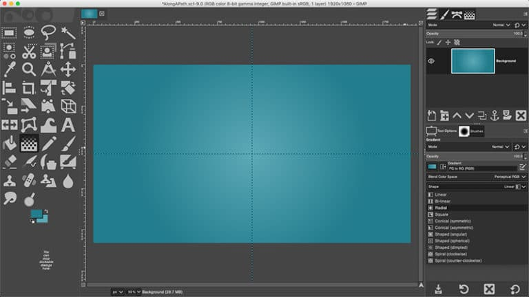 gradient background layer
