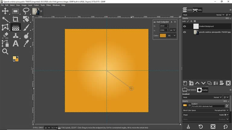 create a radial gradient