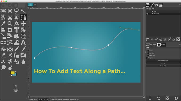 create a path for your text