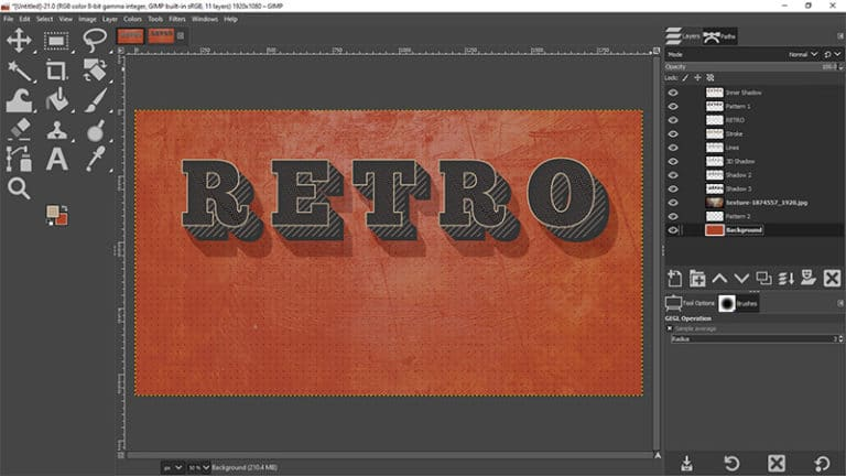 add a retro texture to your design