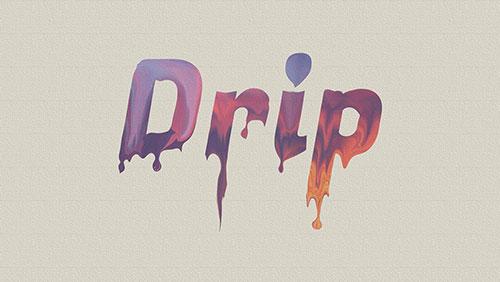 drip text effect