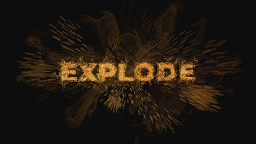 exploding text effect tutorial