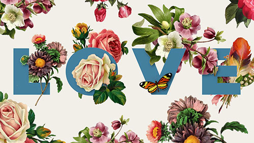 floral text design tutorial