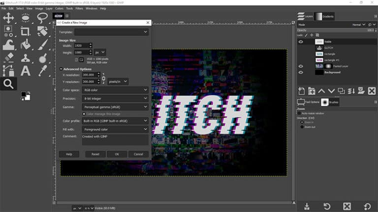 GIMP Tutorial {Glitch Text Effect}