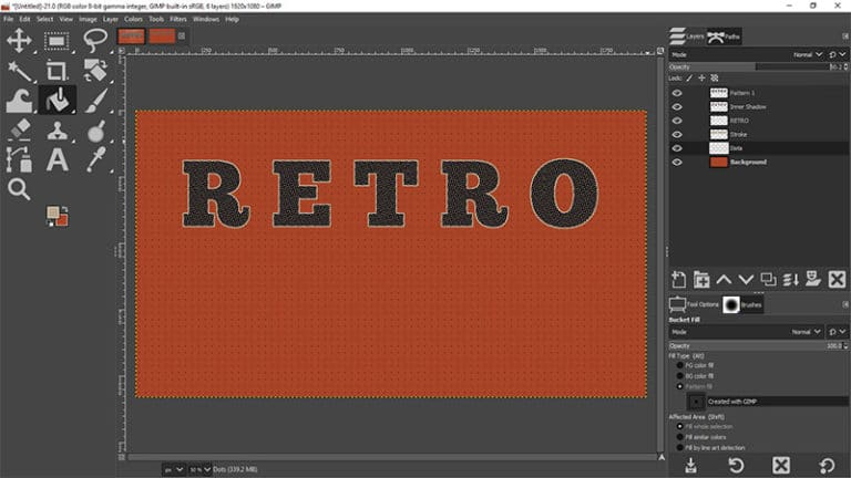 add the second custom pattern