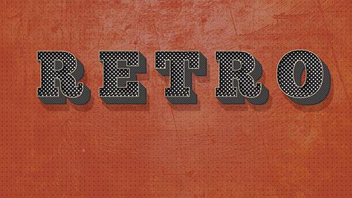 retro text effect tutorial