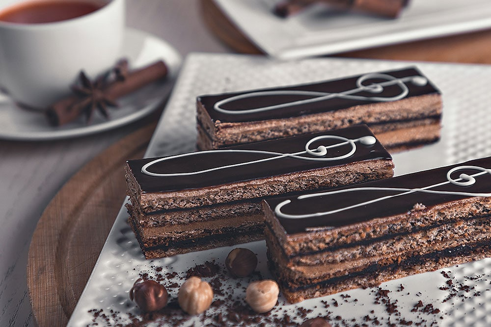 chocolate in threes