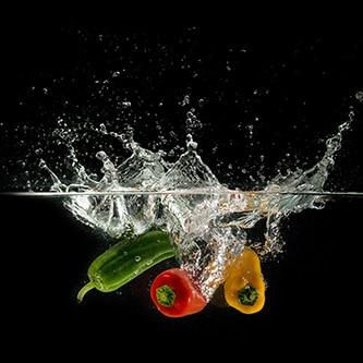 three odd peppers