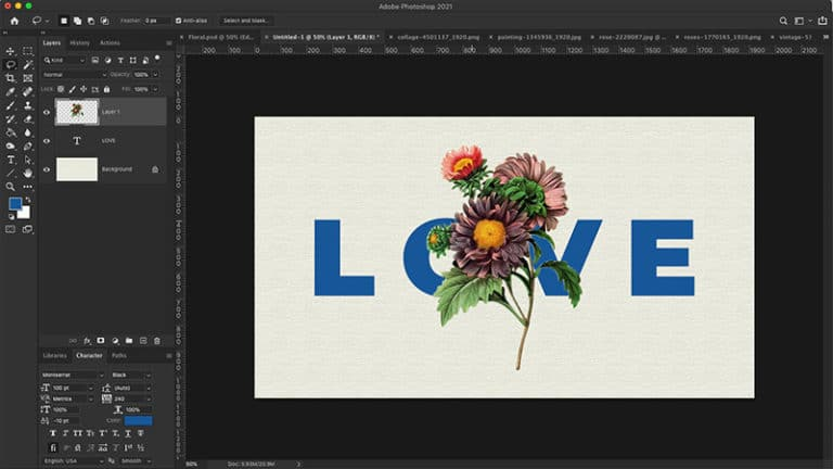 flowers to individual layers