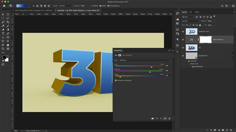 style your 3d text