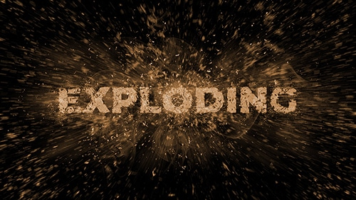 exploding text featured image