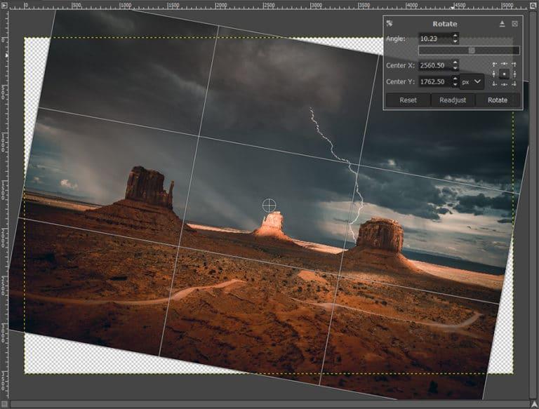 rotate an image with angle slider
