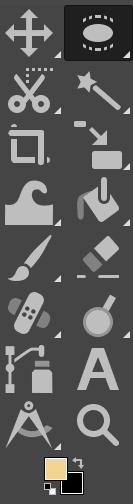 grouped tools in toolbox