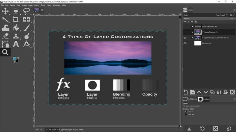 types of layer customizations