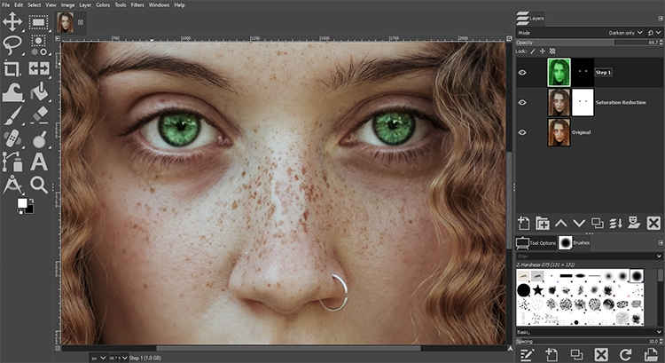 realistic and natural colors
