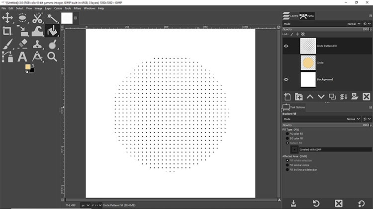circle image filled with a pattern
