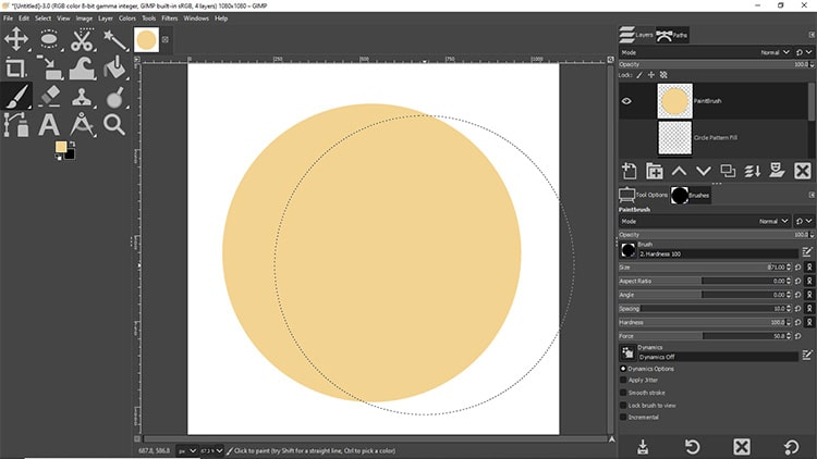 circle image created with paint brush