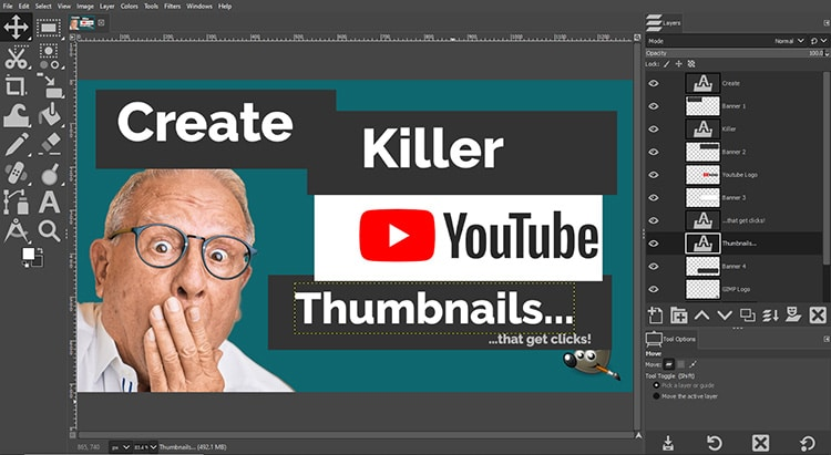 create four banners