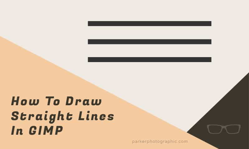 How To Draw Straight Lines in GIMP