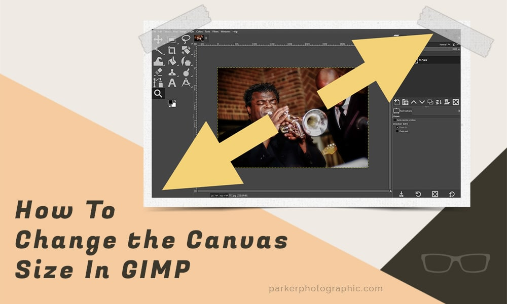 change canvas size in GIMP