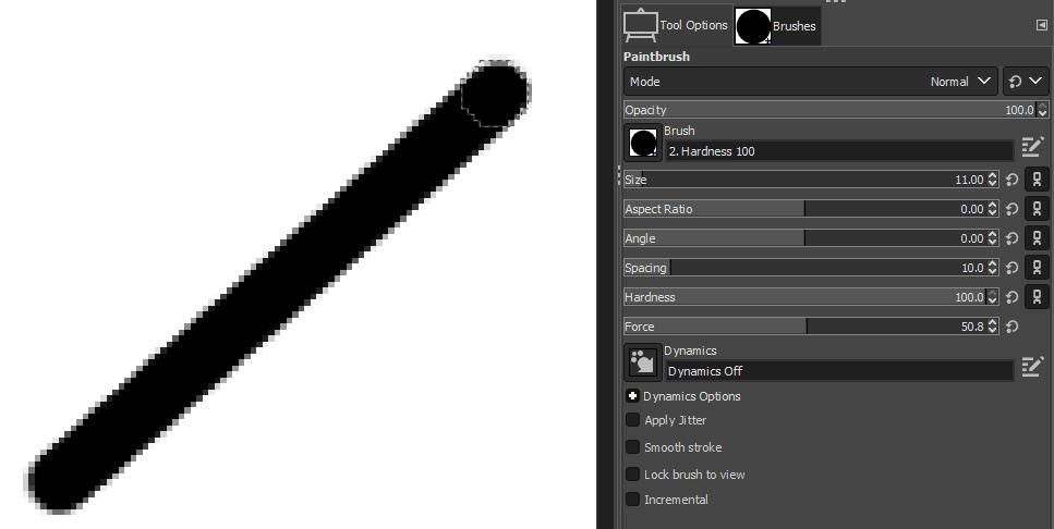 paint brush angle line