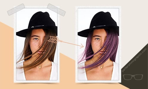 small featured change color of hair