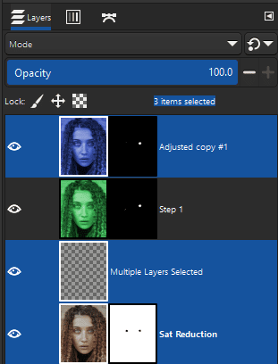 select multiple layers